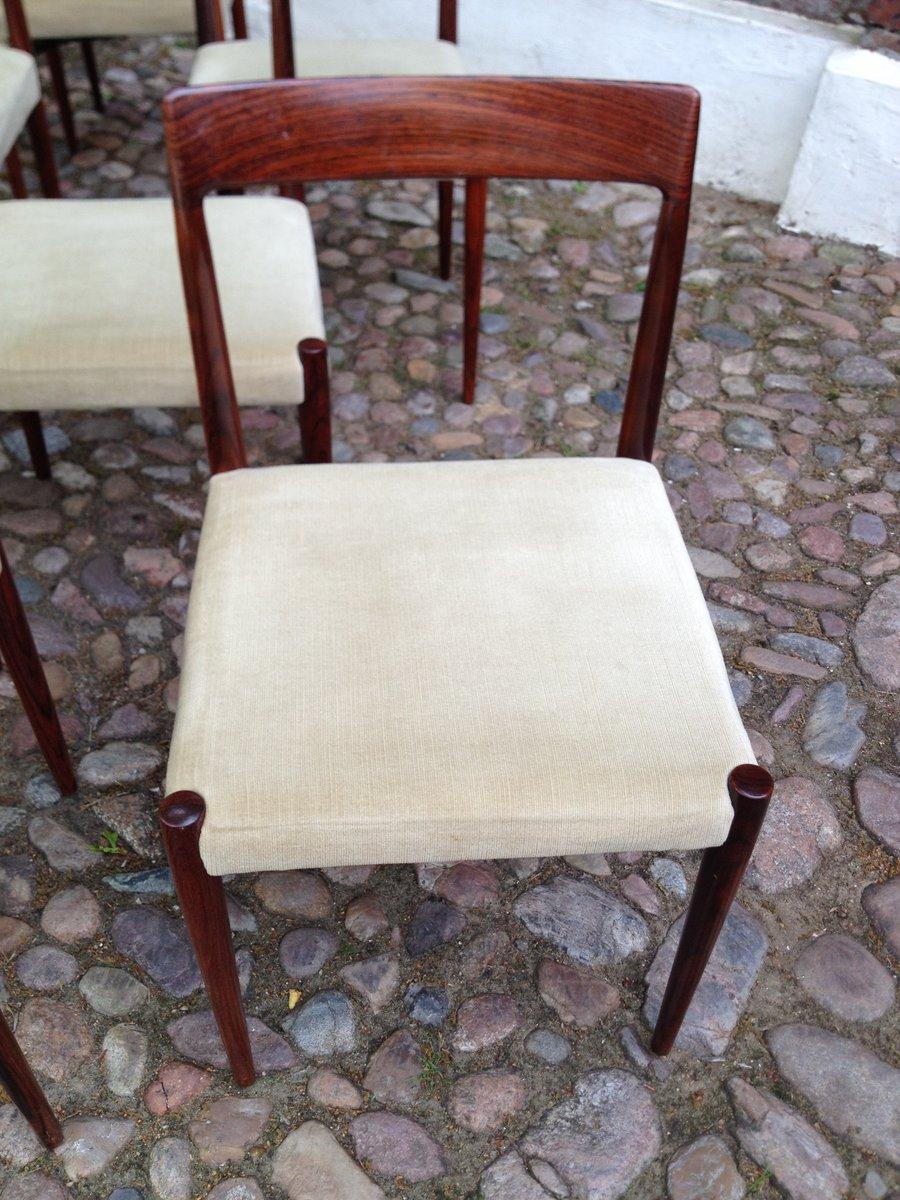 vintage palisander tisch mit 12 st hlen bei pamono kaufen. Black Bedroom Furniture Sets. Home Design Ideas