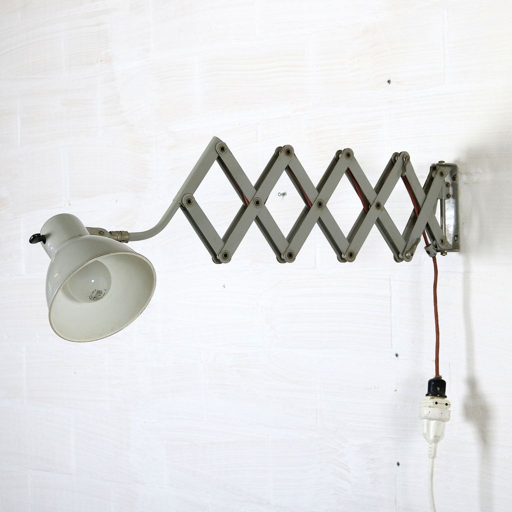 Industrial Scissor Lamp from SIS for sale at Pamono