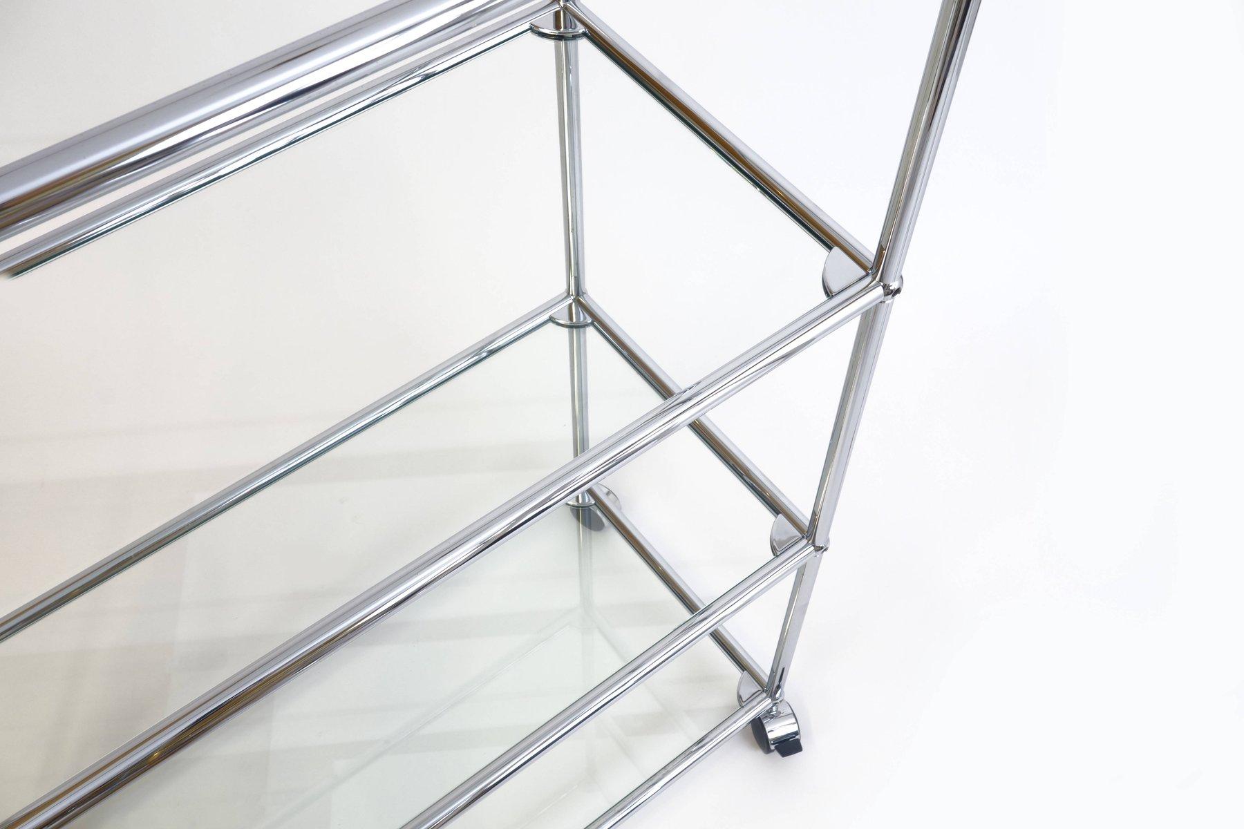 regalsystem aus glas von fritz haller f r usm haller 1985 bei pamono kaufen. Black Bedroom Furniture Sets. Home Design Ideas