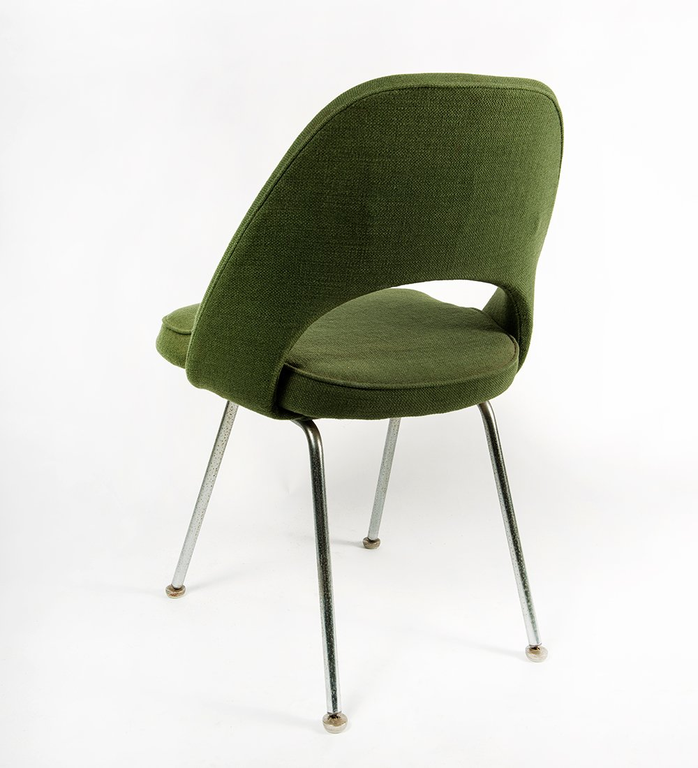 Mid Century Green Executive Side Chair By Eero Saarinen For Knoll, 1958 For  Sale At Pamono