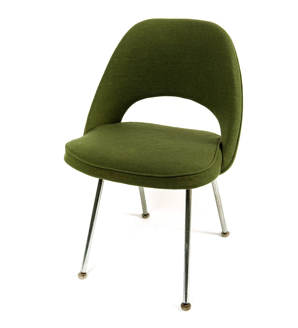 MidCentury Green Executive Side Chair by Eero Saarinen for Knoll