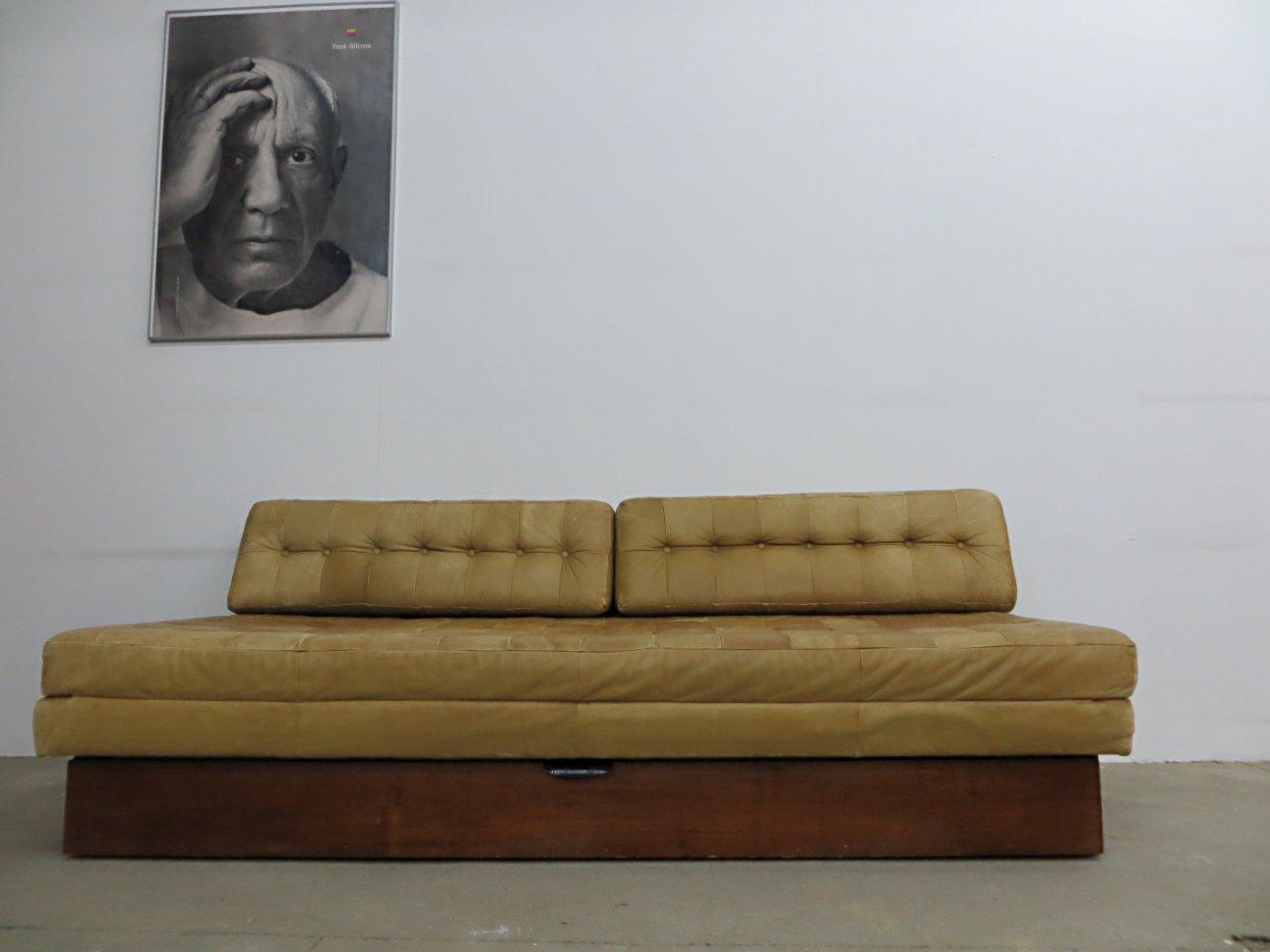 Divano letto vintage in pelle in vendita su pamono - Divano letto in pelle ...