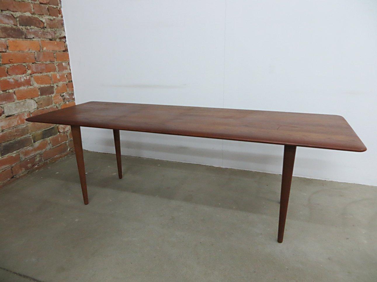 Danish Teak Wood Coffee Table By Peter Hvidt Orla Molgaard Nielsen For France S N For Sale