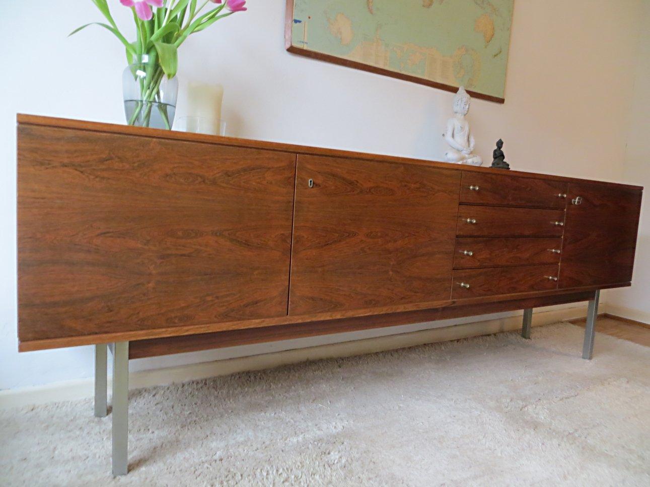 palisander furnier sideboard von bartels werke bei pamono. Black Bedroom Furniture Sets. Home Design Ideas