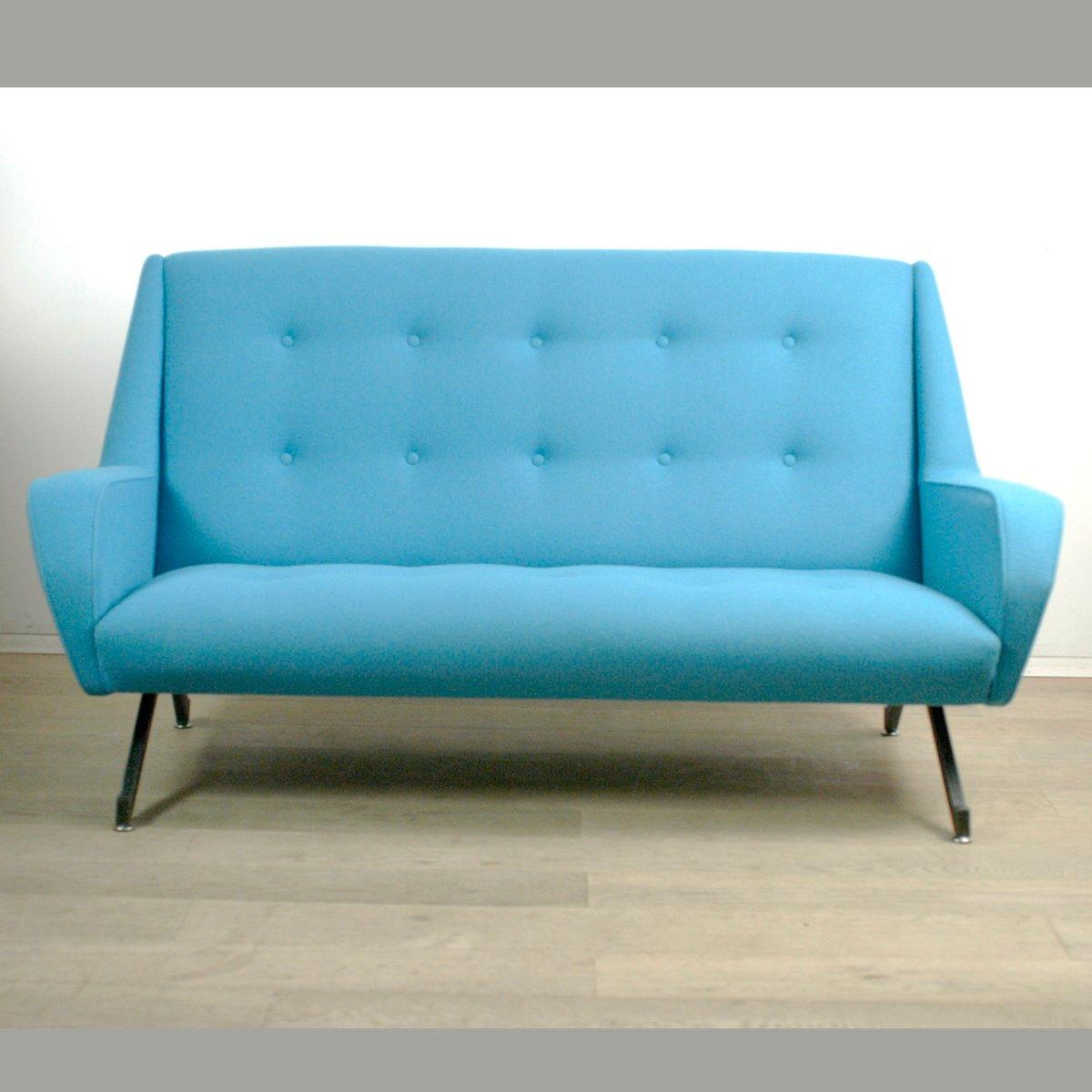 canap deux places turquoise italie 1950s en vente sur. Black Bedroom Furniture Sets. Home Design Ideas
