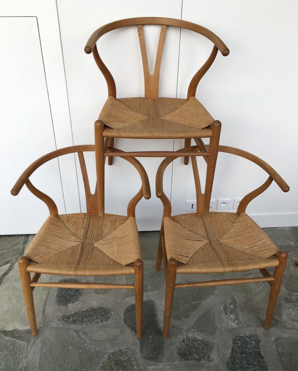 ch24 y wishbone chairs by hans wegner for carl hansen. Black Bedroom Furniture Sets. Home Design Ideas