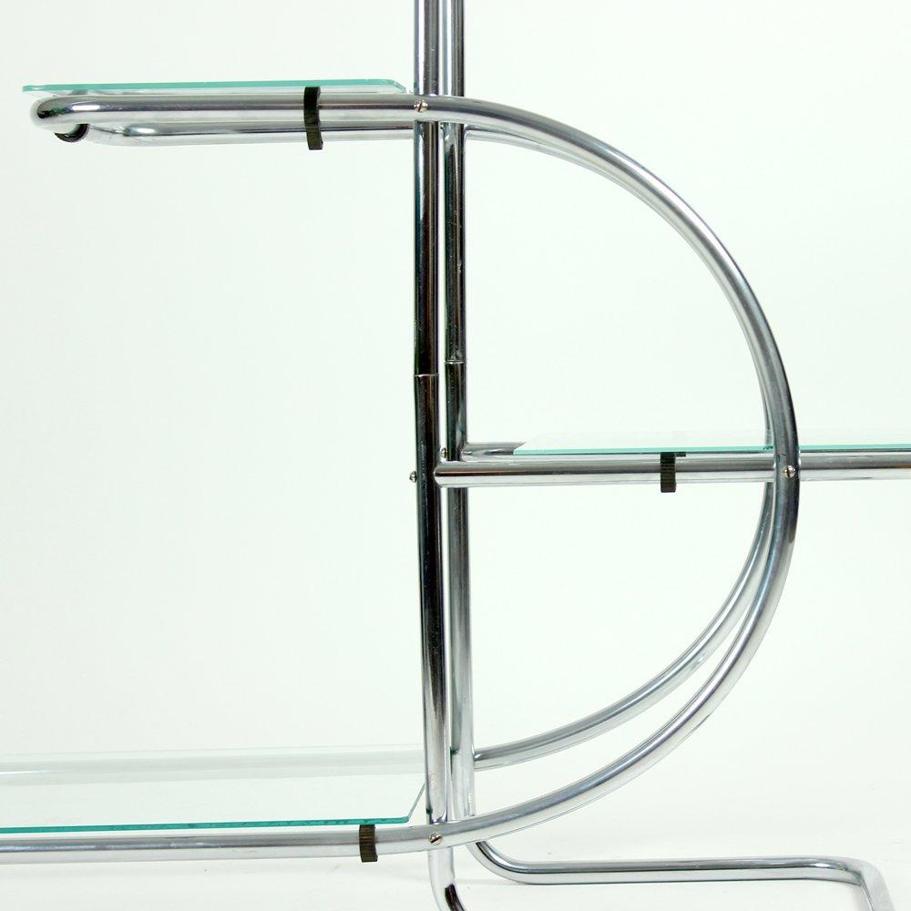 struttura vintage a scaffali in vetro e metallo di emile guyot ... - Scaffali Metallo E Vetro