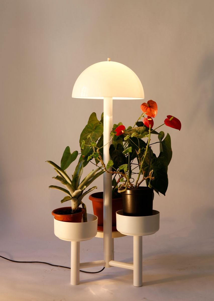 Vintage Floor Lamp And Planter From Luxform For Sale At Pamono