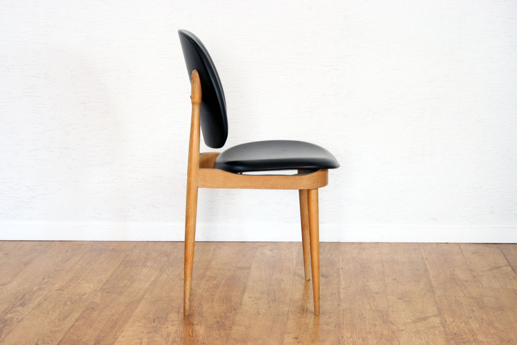 Vintage Solid Beech U0026 Black Pine Chair By Pierre Guariche