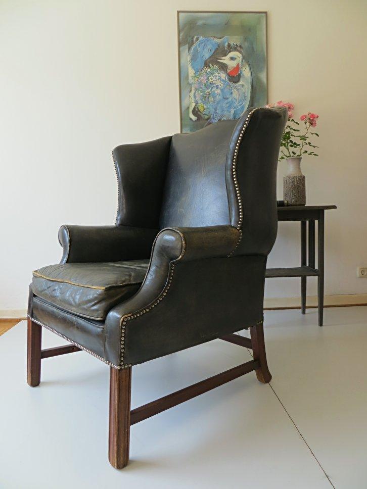 English Art Deco Chesterfield Armchair