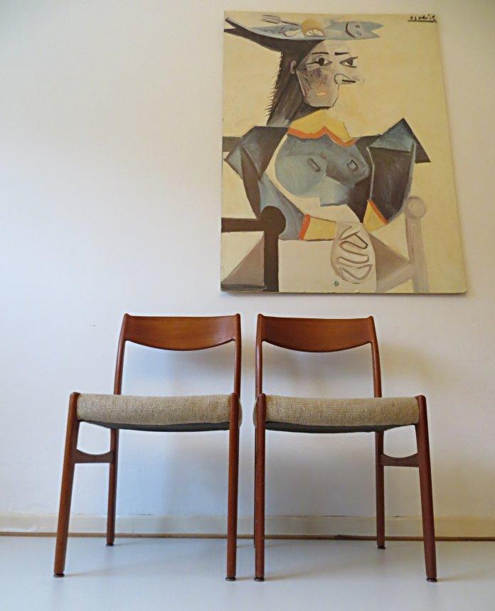 Danish Vintage Teak Dining Chairs from Glyngore Stolefabrik 1960s