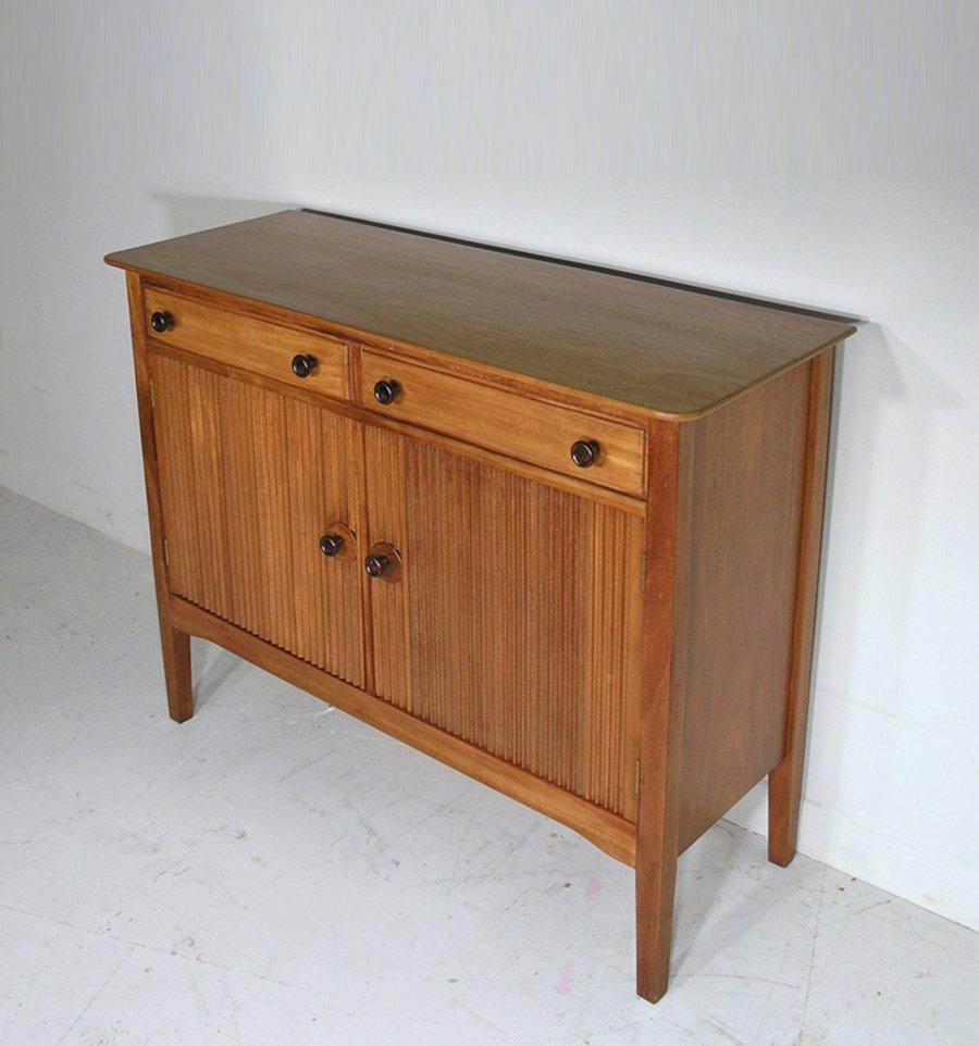 Solid Walnut Buffet ~ Vintage solid walnut mahogany small sideboard by david
