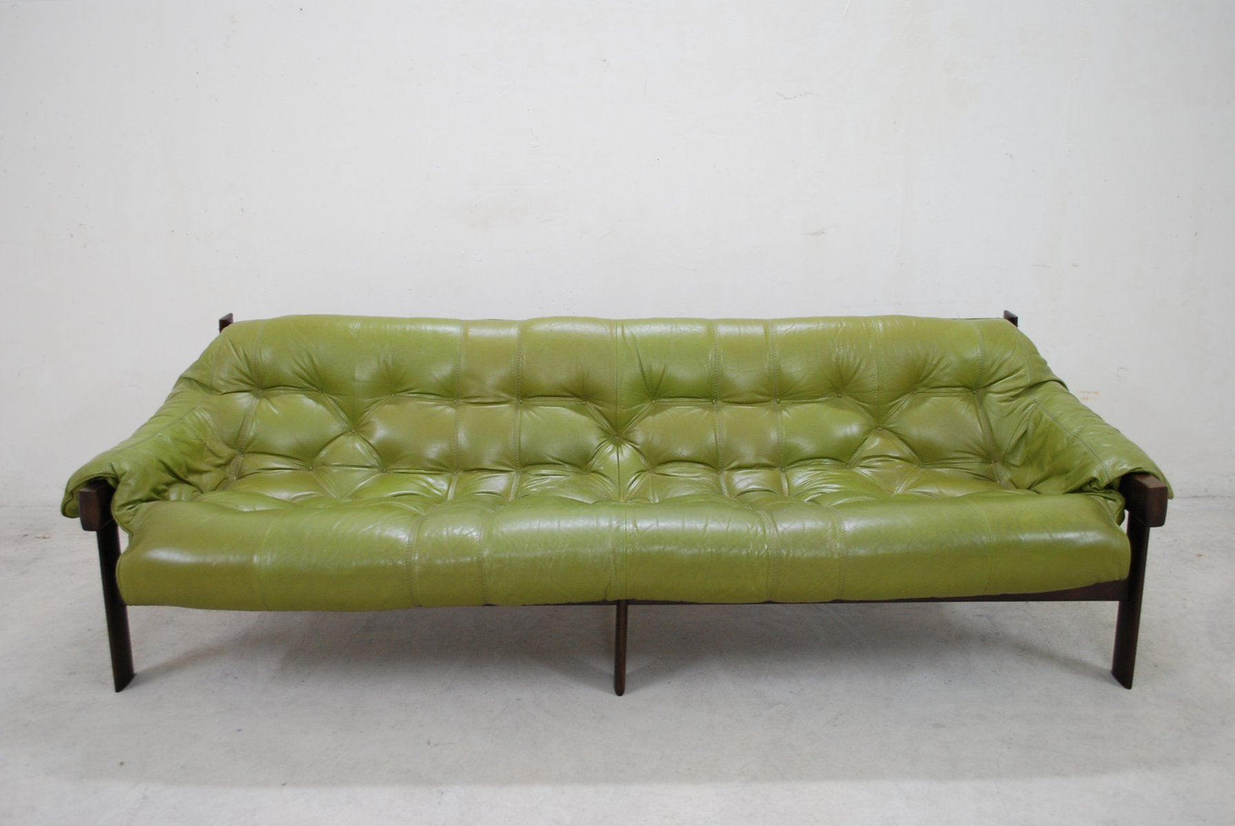 Lime Green Leather Sofa Higgins Chesterfield With Tufted