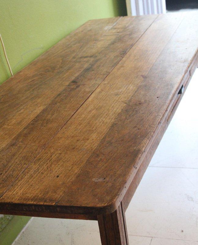 Langer esstisch aus obstholz aus sp tem 19 jahrhundert for Langer esstisch