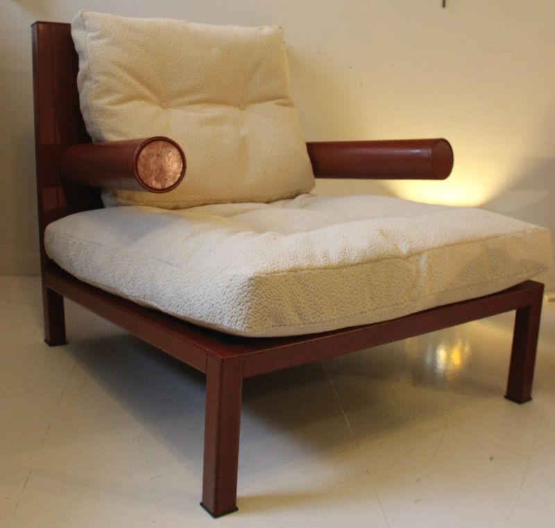 Vintage oversized baisity leather armchair by antonio for Oversized armchairs for sale