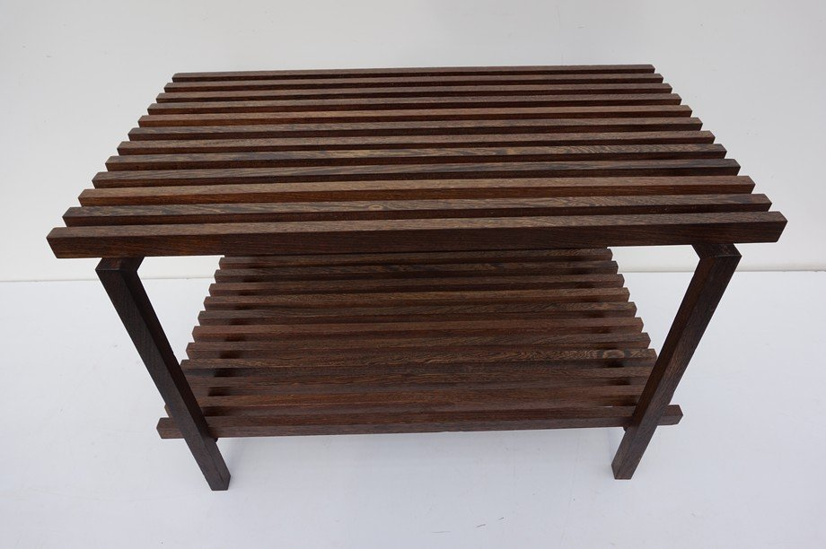Great Vintage Architectural Wenge Slat Bench For Sale At Pamono