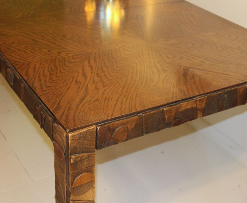 American Brutalist Dining Table from Lane Furniture, 1960s for sale at Pamono
