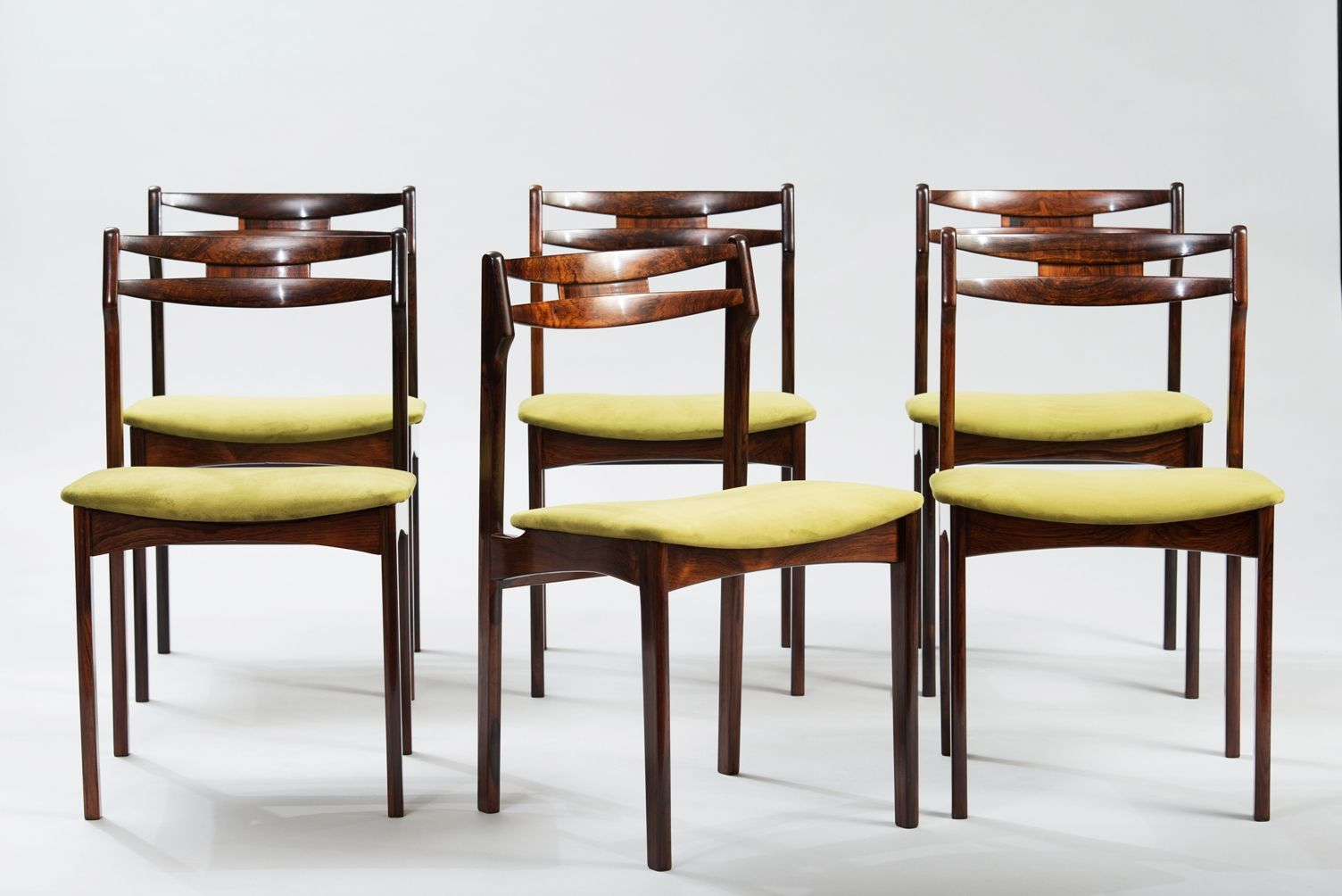 Danish Dining Chair mid-century danish dining chairs, set of 6 for sale at pamono