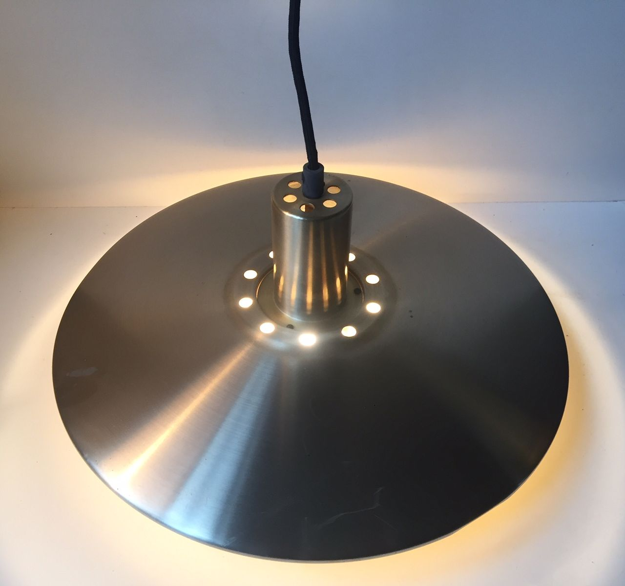 Mid century tiered flying saucer brass pendant from vitrika 1960s price per piece arubaitofo Images