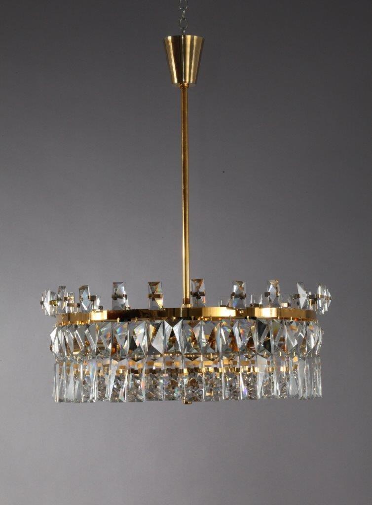 lustre en verre de cristal par oswald haerdtl pour lobmeyer autriche 1972 en vente sur pamono. Black Bedroom Furniture Sets. Home Design Ideas