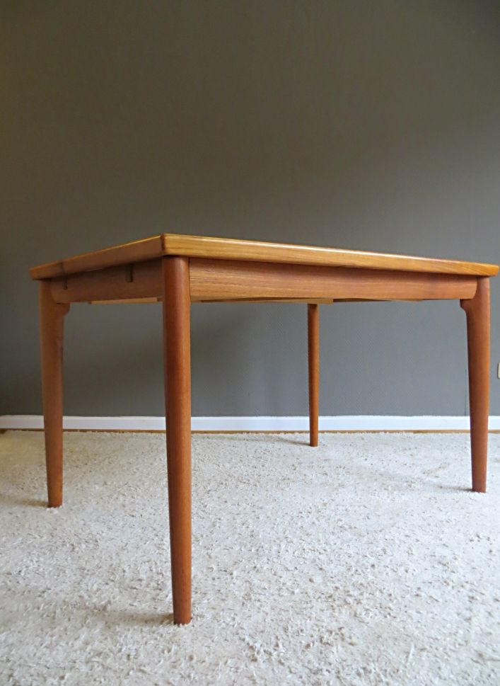 Danish Teak Dining Table by Grete Jalk for Glostrup for sale at Pamono