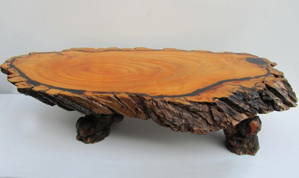 Large table basse tronc d 39 arbre 1960s en vente sur pamono - Table basse tronc d arbre ...