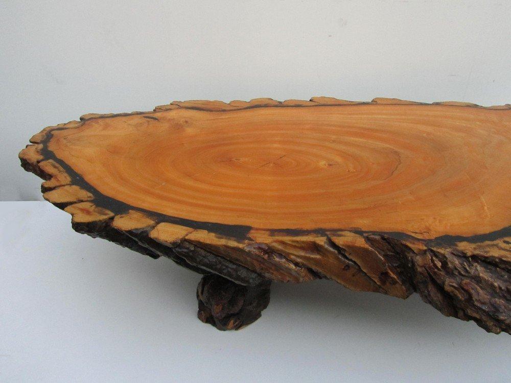 large table basse tronc d 39 arbre 1960s en vente sur pamono. Black Bedroom Furniture Sets. Home Design Ideas