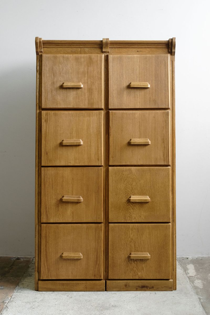 Bauhaus Light Oak Double Office Drawer Cabinet, 1930s for sale at ...