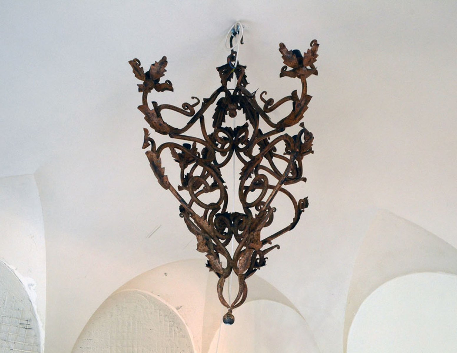 Hand Made Wrought Iron Chandelier 1800s For Sale At Pamono