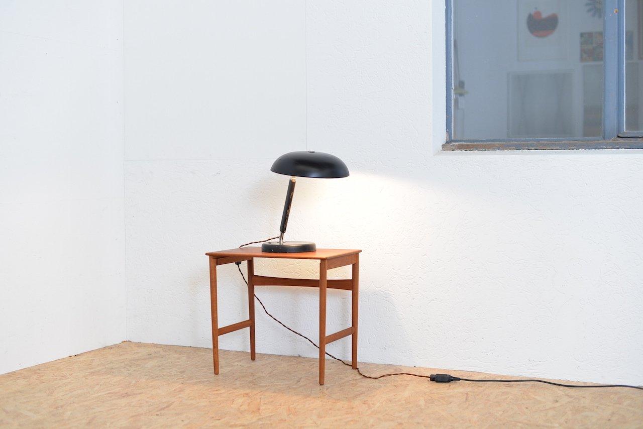 vintage swiss black metal wood table lamp for sale at pamono. Black Bedroom Furniture Sets. Home Design Ideas