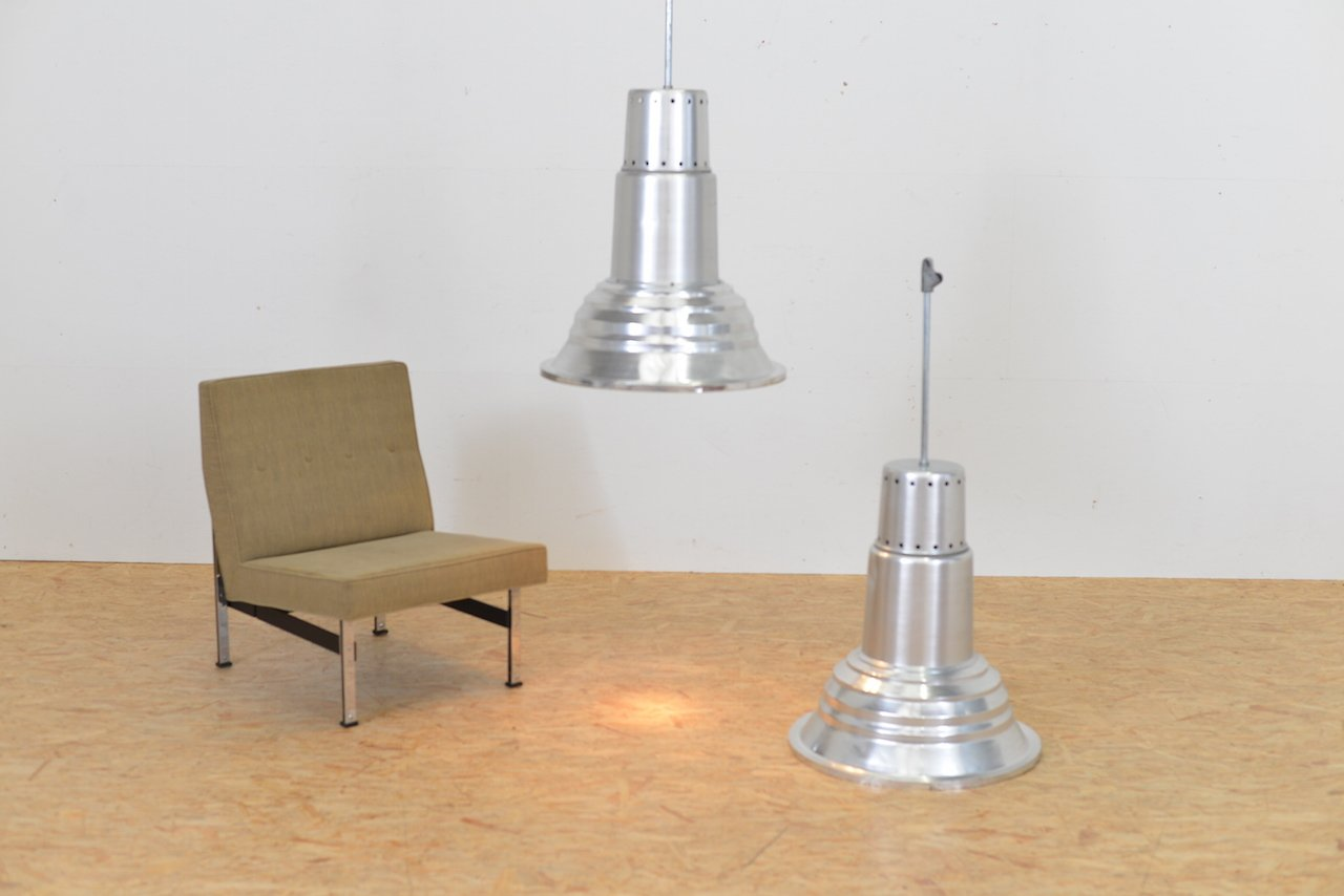 Vintage Industrial Hanging Light In Aluminum For Sale At