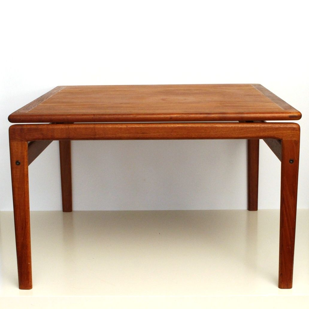 Teak square coffee table from trioh 1960s for sale at pamono for Teak coffee table