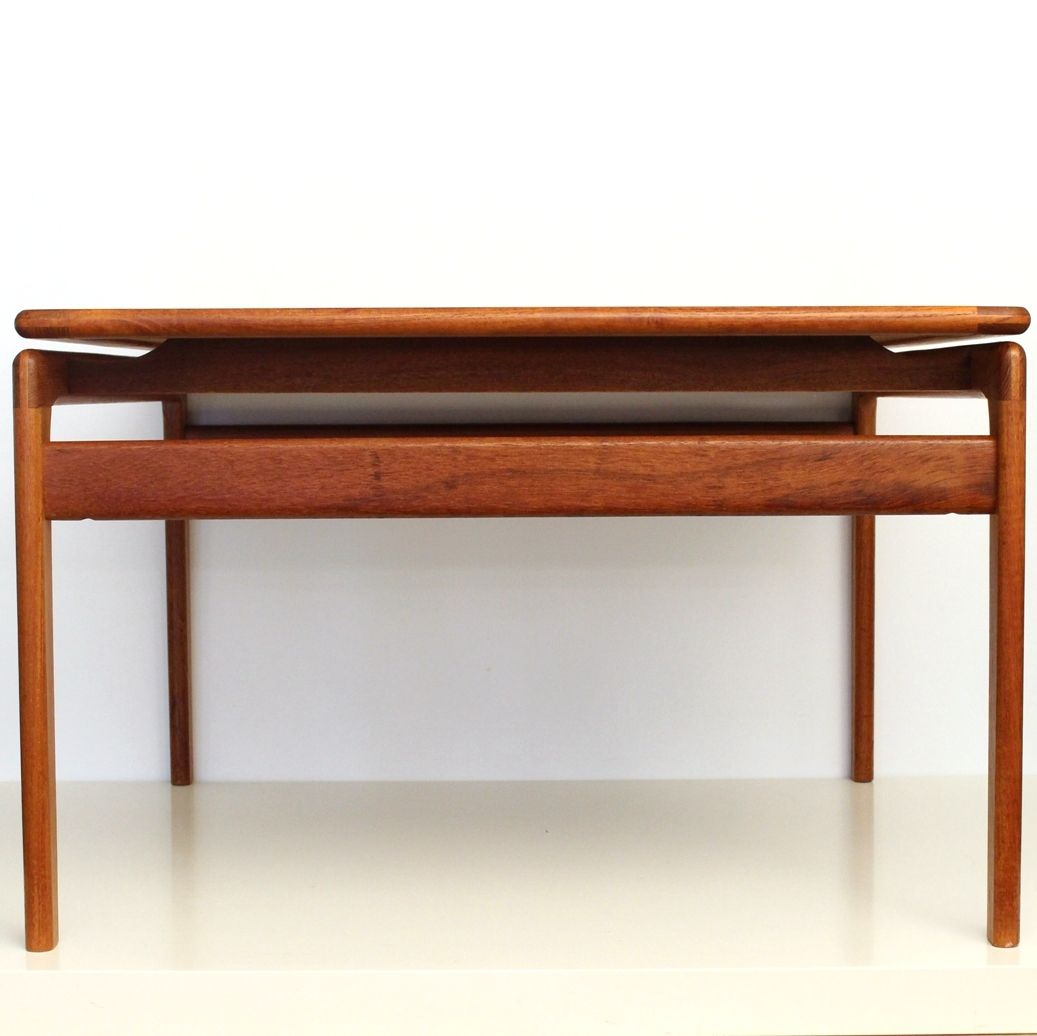 Teak Square Coffee Table From Trioh, 1960s For Sale At Pamono