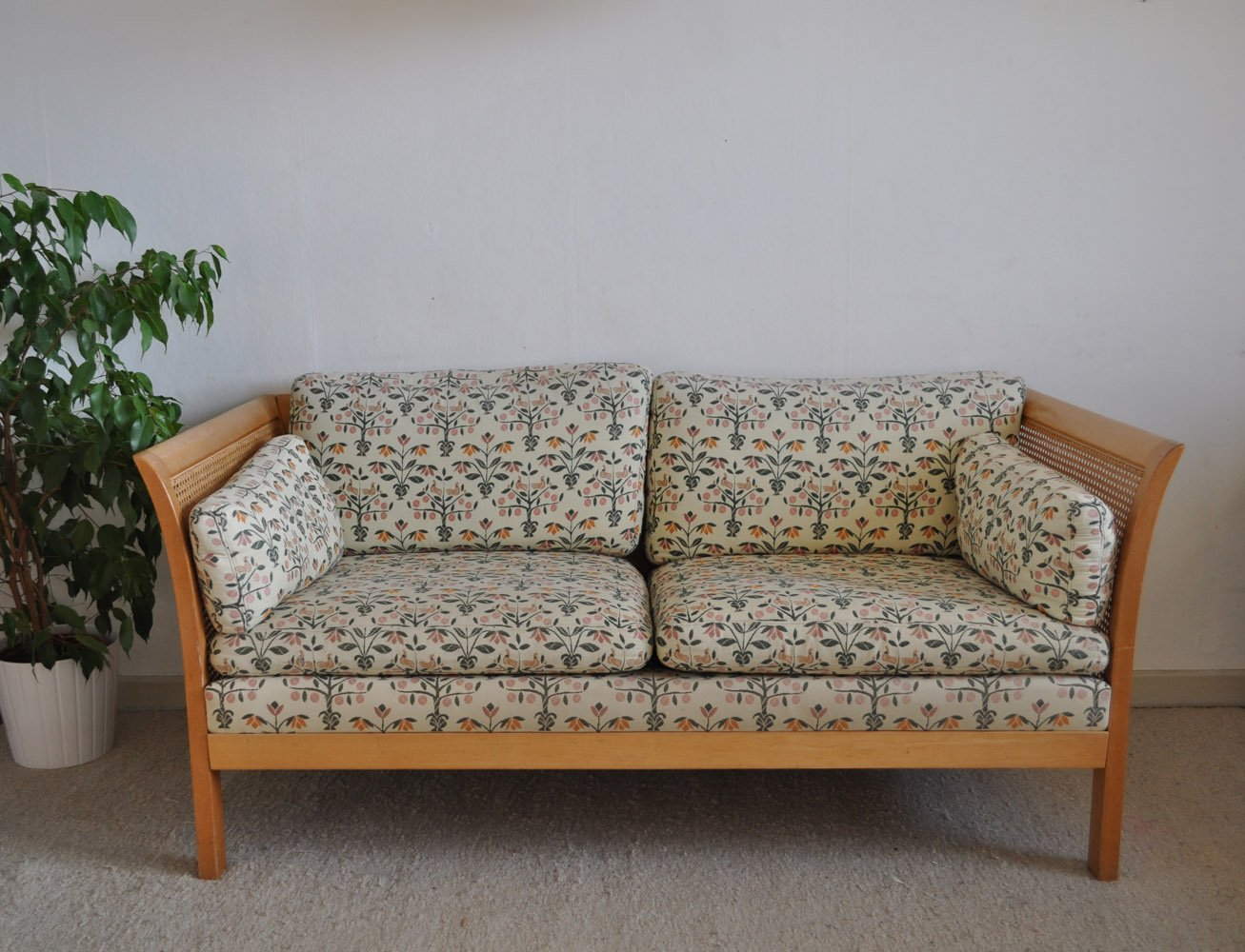 Vintage Rattan Two Seater Sofa from Arne Norell for sale  : vintage rattan two seater sofa from arne norell 1 from www.pamono.com size 1307 x 1000 jpeg 163kB
