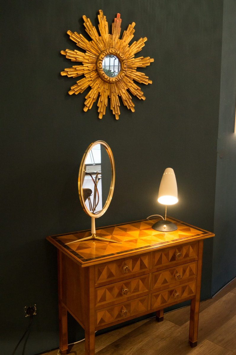 Sunburst Wall Mirror mid-century wooden sunburst wall mirror for sale at pamono
