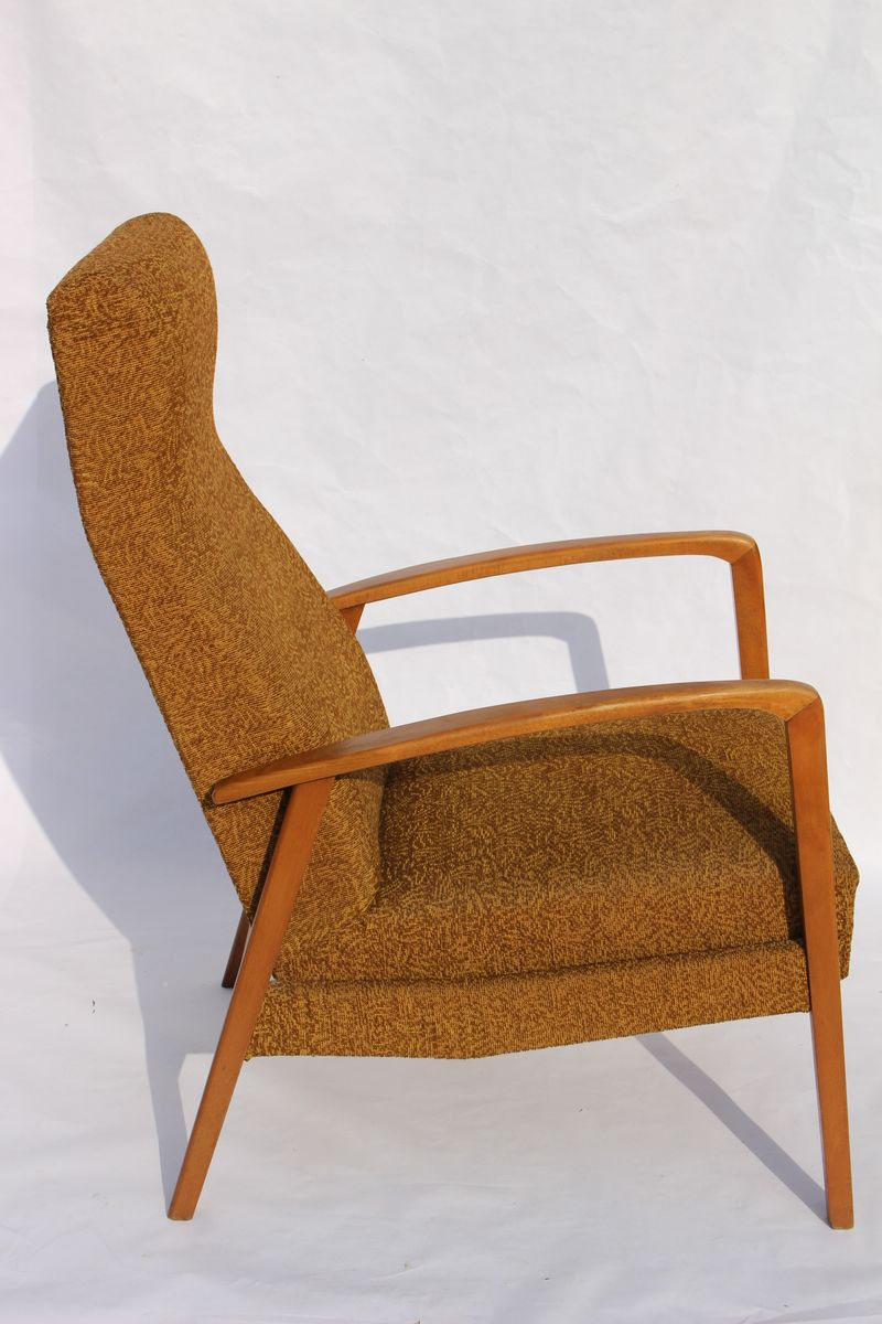 Armchair Upholstery Lounge Armchair With Fabric Upholstery 1950s For Sale At Pamono