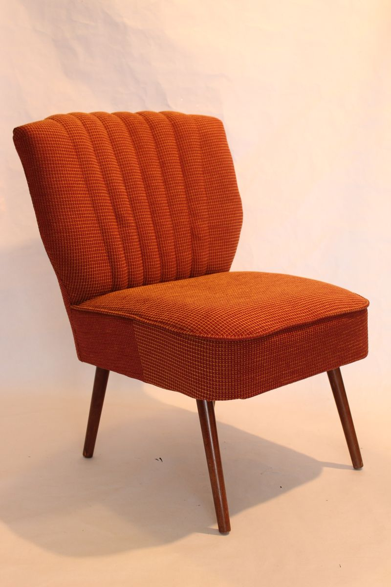 cocktail chair with fabric upholstery