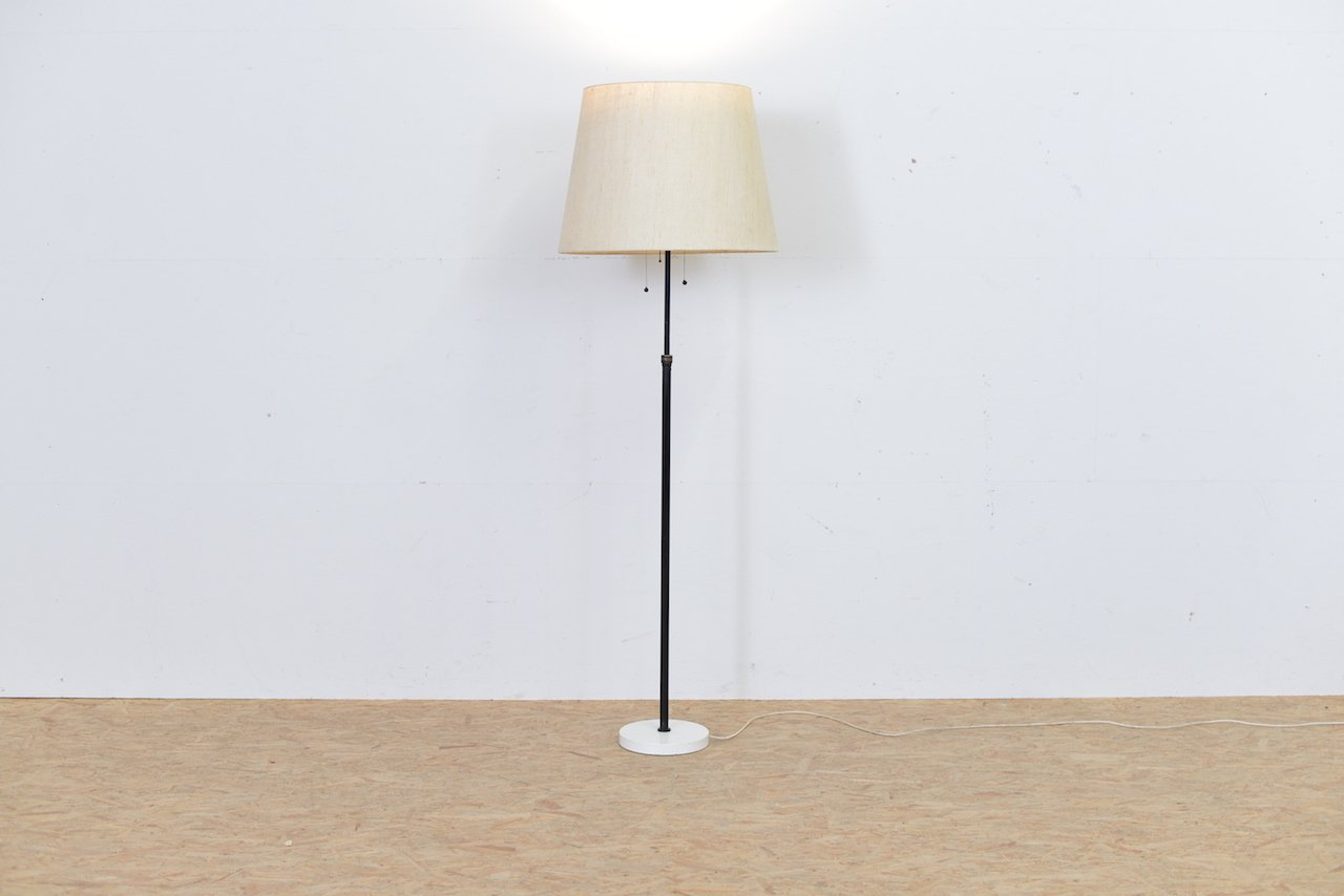 Vintage Height-Adjustable Metal Floor Lamp for sale at Pamono