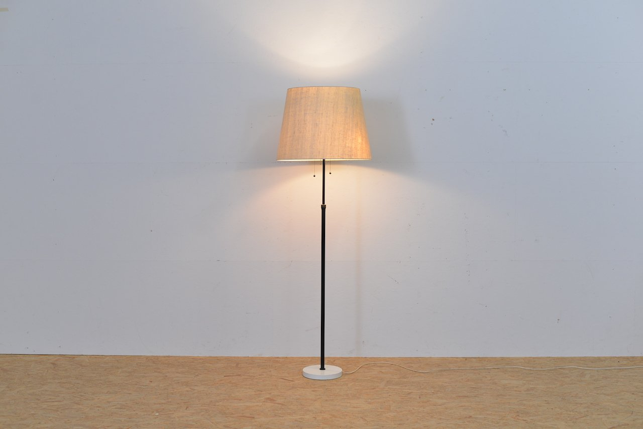 Wall Lamp Height From Floor : Vintage Height-Adjustable Metal Floor Lamp for sale at Pamono