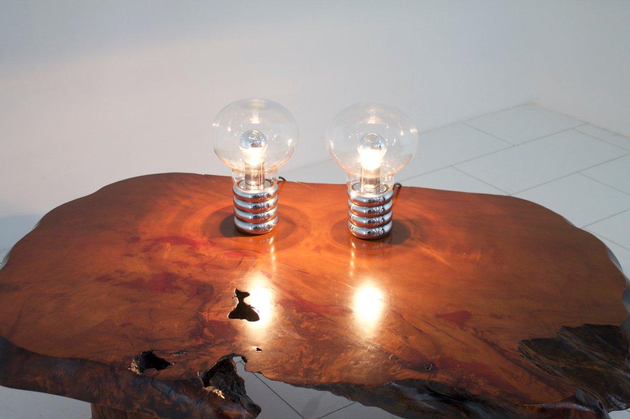 bulb table lamps by ingo maurer for design m 1969 set of 2 for sale at pamono. Black Bedroom Furniture Sets. Home Design Ideas