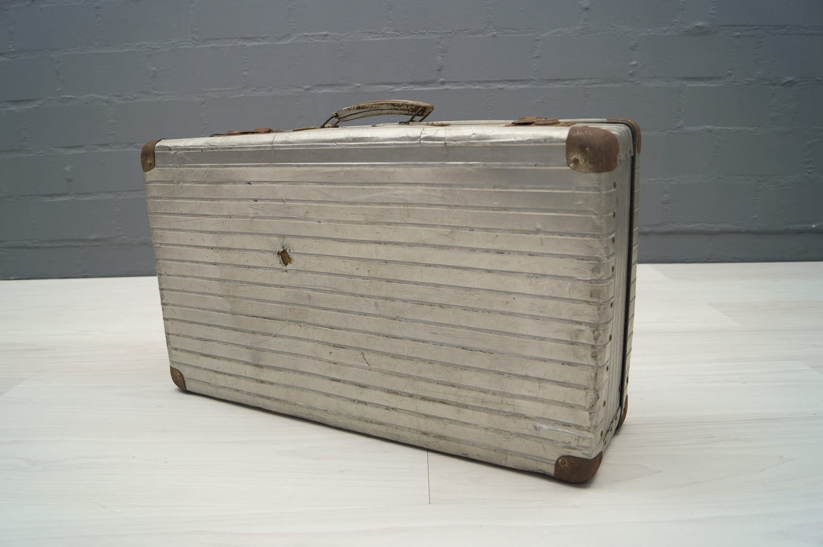 Vintage Aluminum Travel Trunk from Rimowa for sale at Pamono