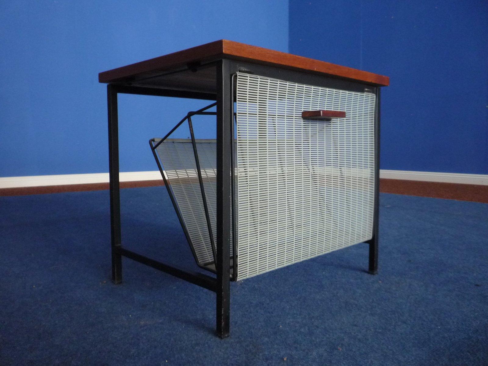 teak beistelltisch mit zeitungsablage 1960er bei pamono kaufen. Black Bedroom Furniture Sets. Home Design Ideas