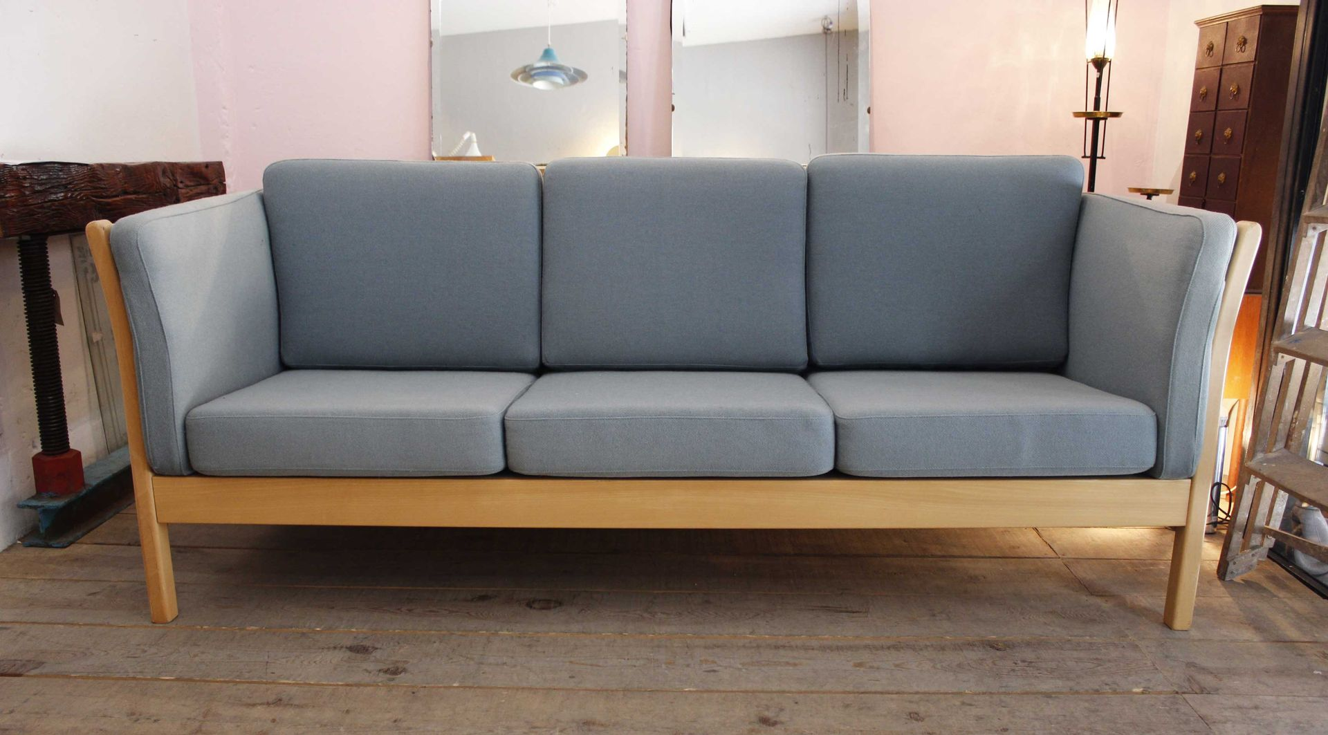 drei sitzer sofa von mogens hansen 1970er bei pamono kaufen. Black Bedroom Furniture Sets. Home Design Ideas