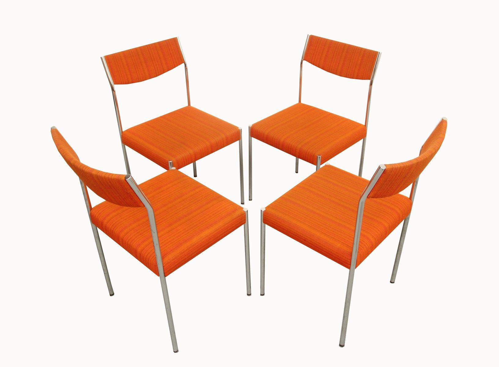 orange dining chairs peugen