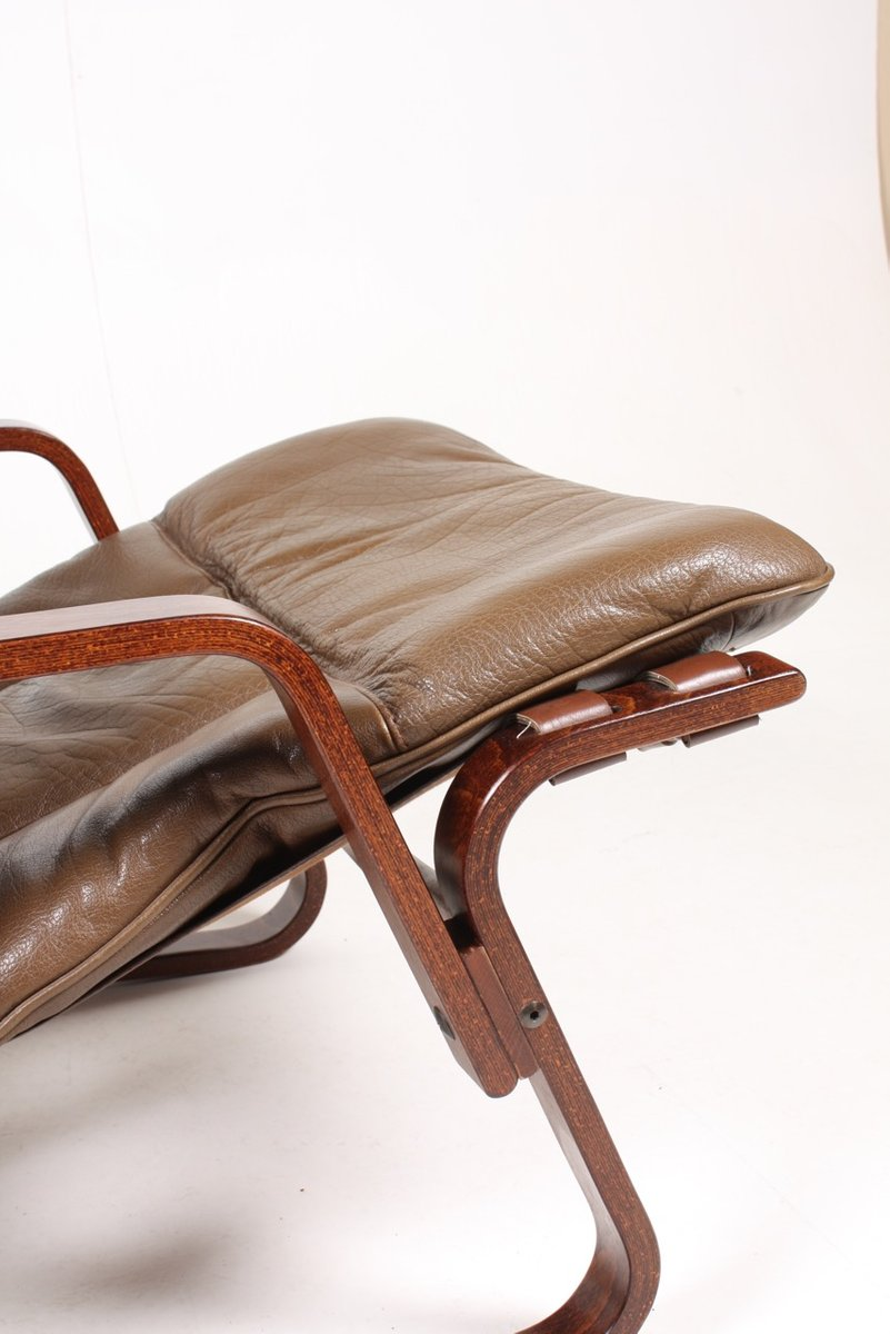 Captivating Mid Century Bentwood And Leather Lounge Chairs, 1960s, Set Of 2