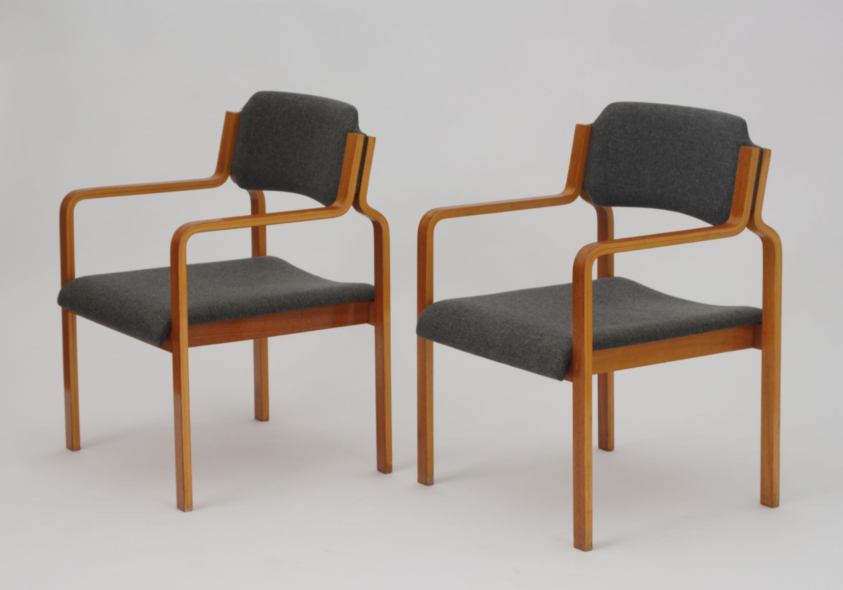 Vintage Beech Dining Chairs From TON, 1975, Set Of 2