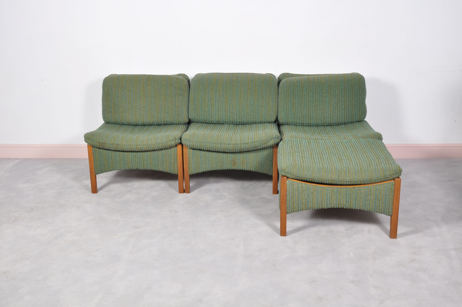 Mid century danish sectional teak sofa for sale at pamono for Mid century sectional sofa for sale