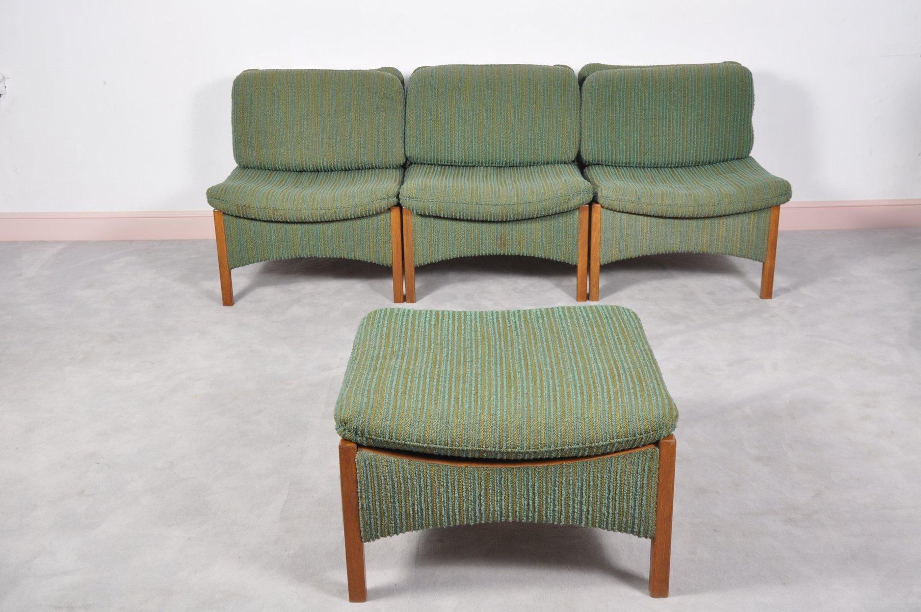 canap mid century sectional en teck danemark en vente. Black Bedroom Furniture Sets. Home Design Ideas