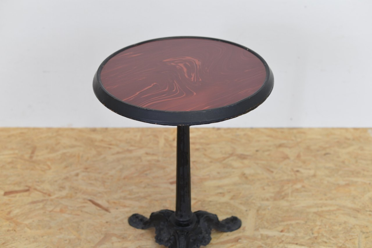 Vintage bistro table by charlionais panassier lyon for - Table de bistrot occasion ...