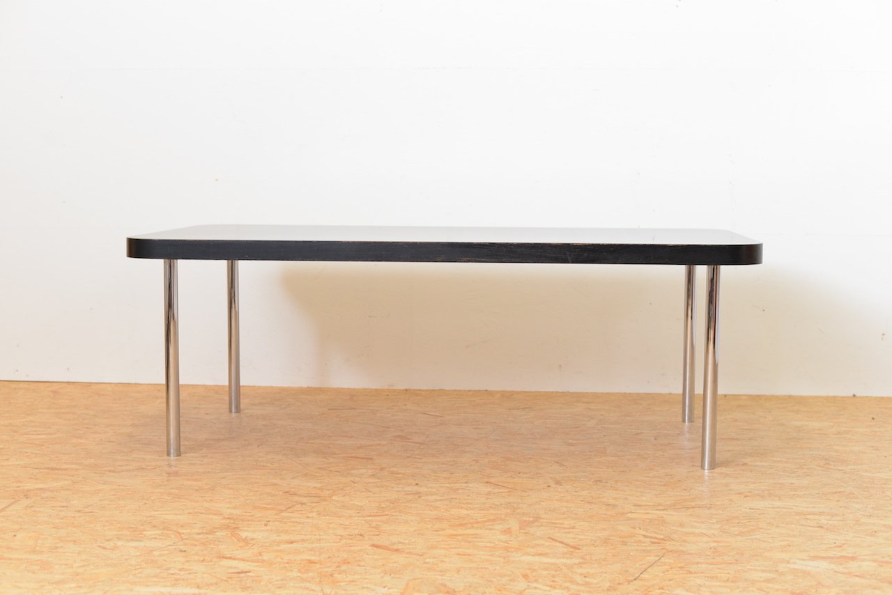 schwarzer vintage tisch von marcel breuer f r embru wohnbedarf bei pamono kaufen. Black Bedroom Furniture Sets. Home Design Ideas